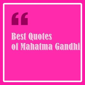 Best Quotes of Mahatma Gandhi poster