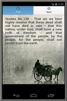 Quotes Abraham Lincoln apk screenshot
