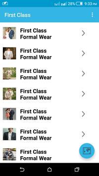 First Class Formal Wear apk screenshot