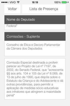 Deputados apk screenshot