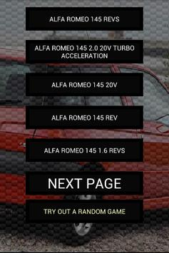 Engine sounds of Alfa 145 poster