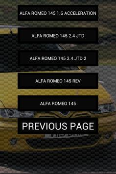 Engine sounds of Alfa 145 apk screenshot