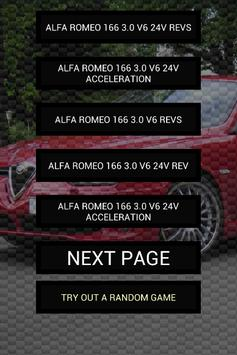 Engine sounds of Alfa 166 poster