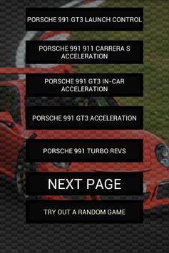 Engine sounds of Porsche 991 poster