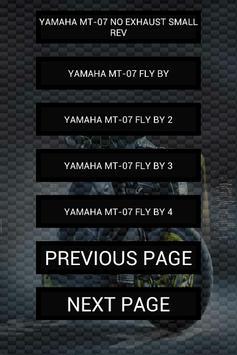 Engine sounds of MT-07 apk screenshot