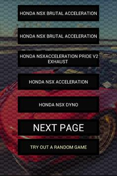 Engine sounds of NSX poster