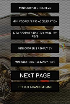 Engine sounds of Cooper R56 poster