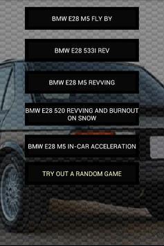 Engine sounds of BMW E28 poster