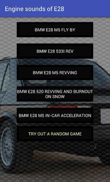 Engine sounds of BMW E28 apk screenshot