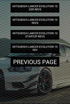 Engine sounds of Evo 10 X apk screenshot