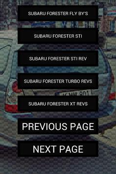 Engine sounds of Forester apk screenshot