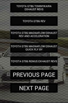 Engine sounds of GT86 poster