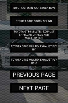 Engine sounds of GT86 apk screenshot