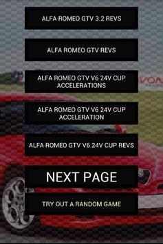 Engine sounds of Alfa GTV poster