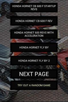 Engine sounds of Hornet poster