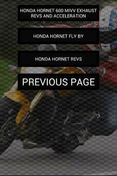Engine sounds of Hornet apk screenshot