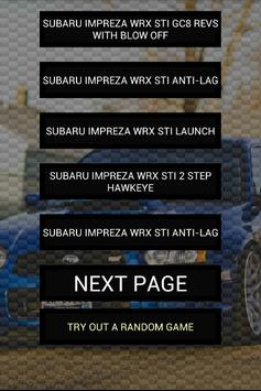 Engine Sounds of Impreza STi poster