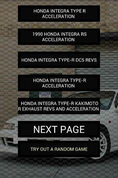 Engine sounds of Integra TypeR poster