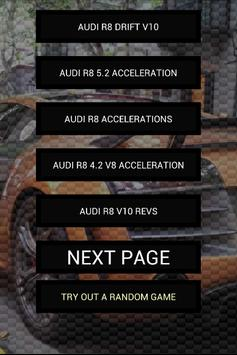 Engine sounds of R8 poster