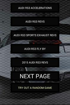 Engine sounds of Audi RS3 poster