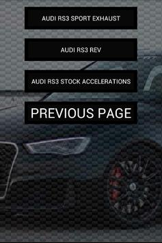 Engine sounds of Audi RS3 apk screenshot