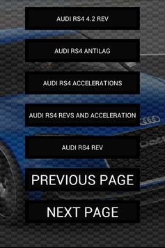 Engine sounds of RS4 apk screenshot
