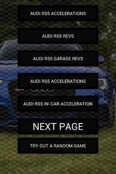 Engine sounds of Audi RS5 poster