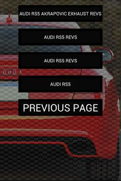 Engine sounds of Audi RS5 apk screenshot