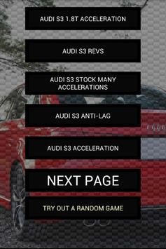 Engine sounds of Audi S3 poster