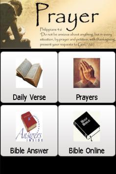 Holy Bible & Prayers poster