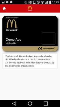 Mcpersonalkortet apk screenshot