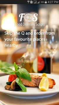 Food Ordering Application poster