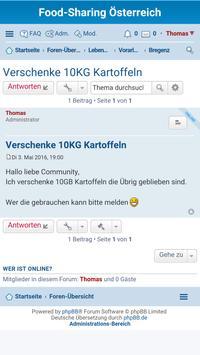 Foodsharing Österreich apk screenshot