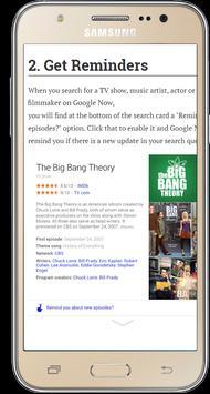 Guide for Google Now apk screenshot