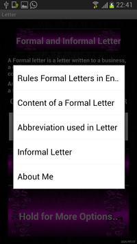 Formal&InLetter apk screenshot