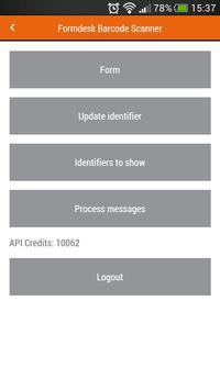 Formdesk Barcode Scanner apk screenshot