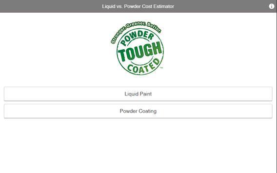 Liquid-Powder Cost Estimator apk screenshot