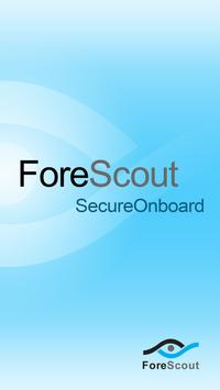 ForeScout SecureOnboard poster