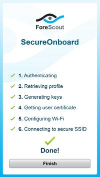 ForeScout SecureOnboard apk screenshot