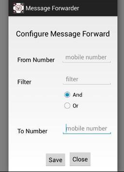 Message forwarder apk screenshot