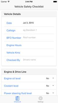 Vehicle Safety Checklist poster
