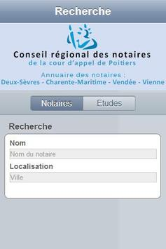 Annuaire notaires Poitiers apk screenshot