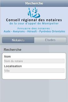 Annuaire notaires Montpellier apk screenshot