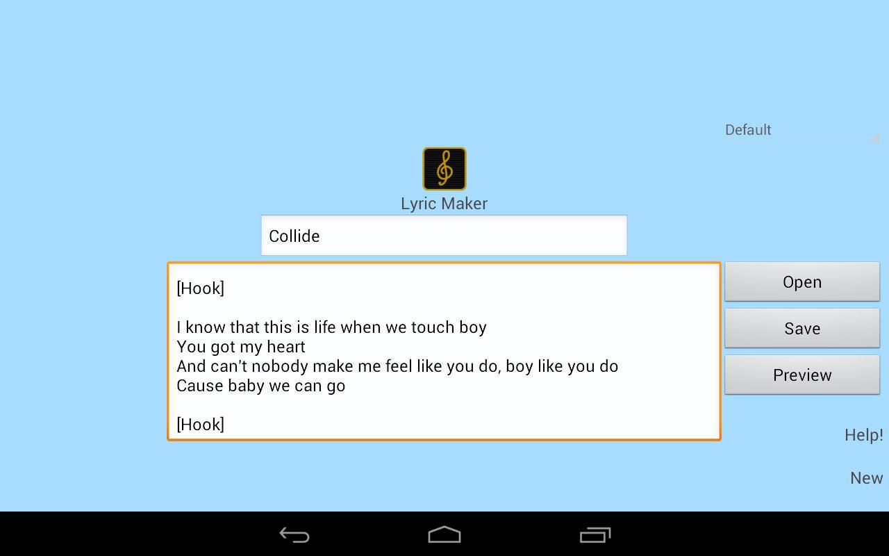 Write lyrics online