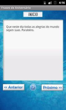 Frases de Aniversário apk screenshot