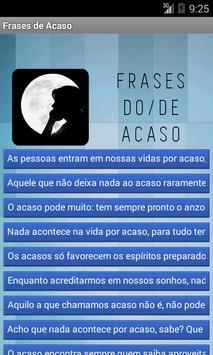 Frases de Acaso poster