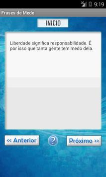 Frases de Medo apk screenshot