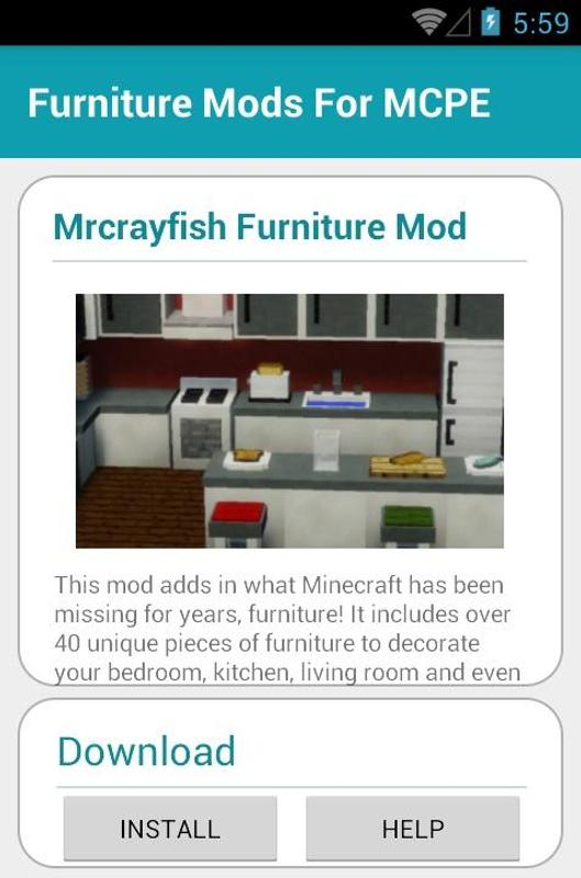 Furniture Mods For Mcpe Apk Download Free Entertainment