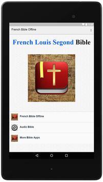 French Bible Louis Segond poster