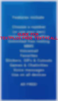 Guide for textPlus Free poster